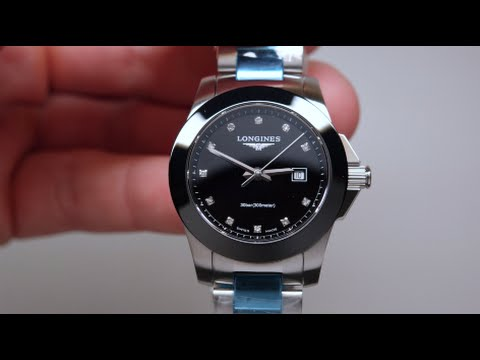 a1890f41c Longines Conquest Black Diamond Womens Watch Review Model: L3.257.4.57.6 -  YouTube