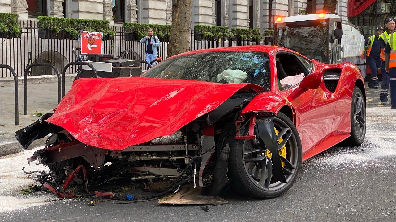 300 000 Ferrari Supercar Crash During Lockdown Youtube