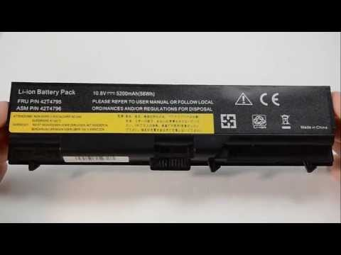 Lenovo Thinkpad W510 T410 Battery Replacement Installation