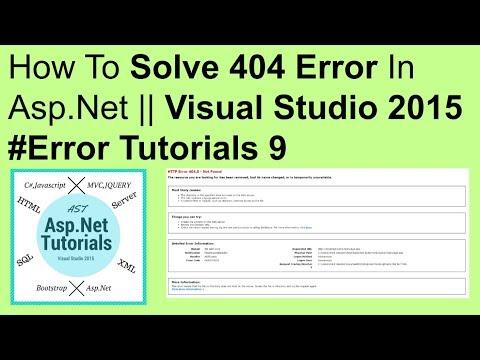 How to solve error 404 in asp.net || visual studio 2015 #error tutorials 9