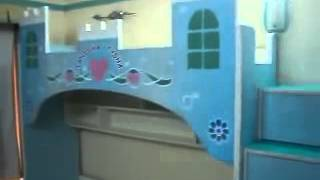 Castle Themes Girls Bunk Bed   By: Just Kidz  09967823482