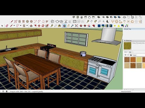 Sketchup Tutorial Kitchen Design Full Youtube