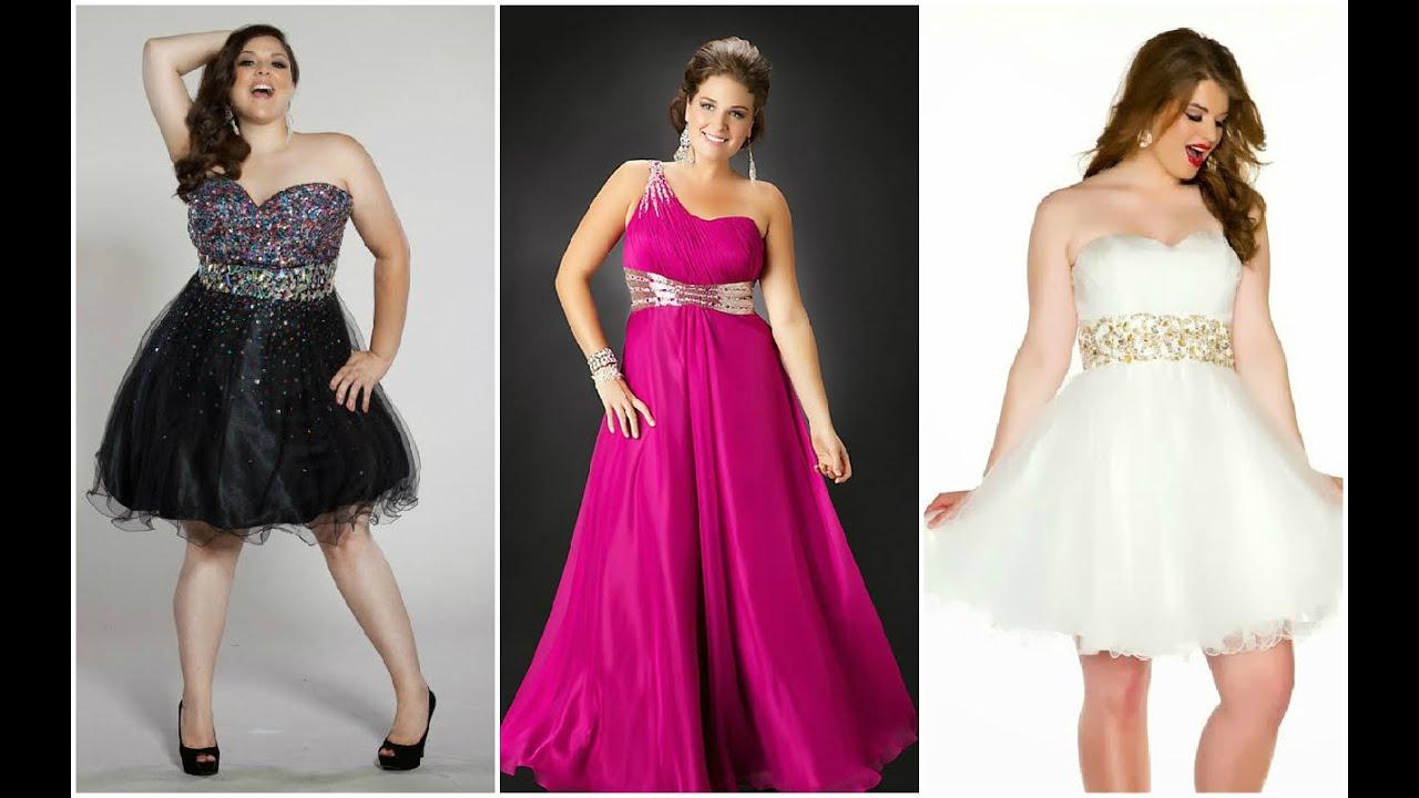 Colección de vestidos de 15 años para gorditas ♥ - YouTube