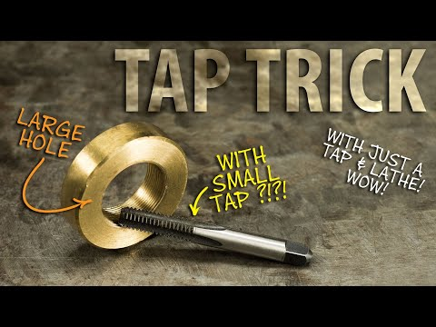 Using a TAP as Thread Boring Tool - This Old Tony