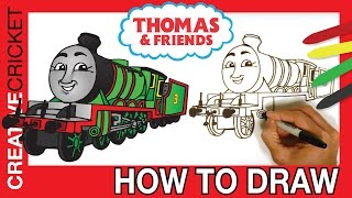 How to Draw Henry the Green Engine ♦ Coloring with Thomas and Friends ♦ Toy Trains for Kids