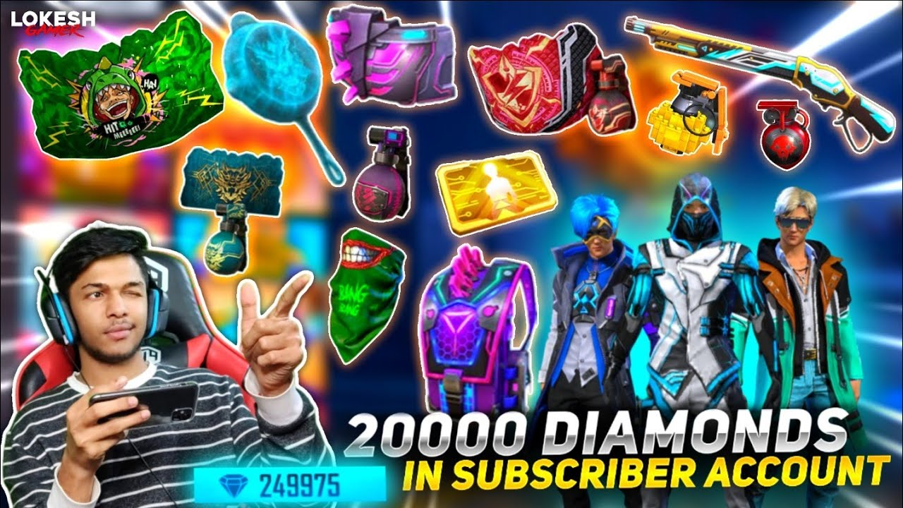Buying 30000+++ Diamonds In Subscriber Account || OP Subscriber Reaction At Garena Free Fire 2020