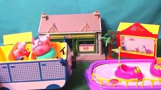 Мультфильм игрушками Свинка Пеппа Свинка Pig Покупки