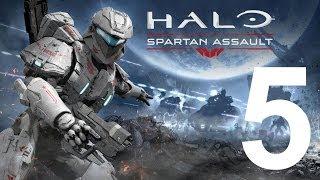 """Halo: Spartan Assault прохождение. Миссия В """"Монолит"""". Спуск с вершины. Кладбище привидений."""