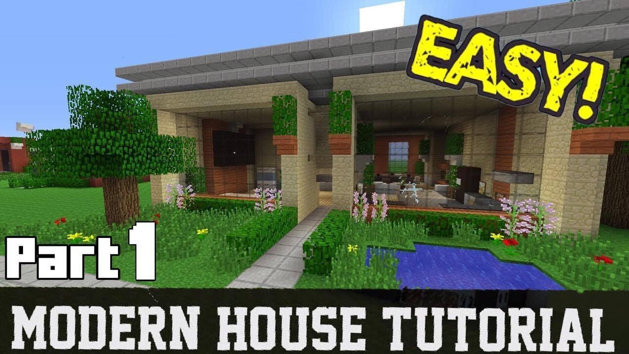 Minecraft Modern House Tutorial Part 1 YouTube