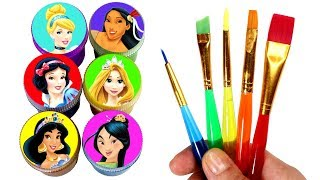 Disney Princess Drawing & Painting with Surprise Toys Jasmine Rapunzel Mulan Cinderella Pocahontas