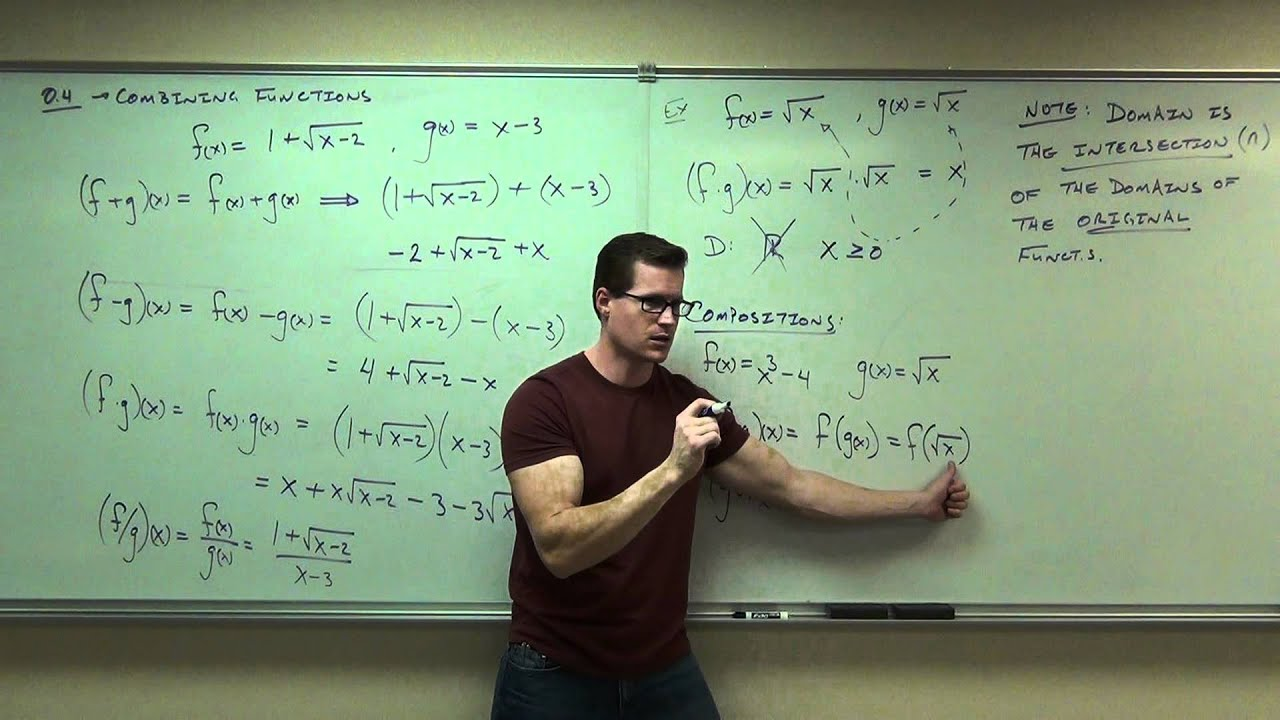 calculus 1 lecture 0 4 combining and composition of functions youtube