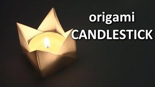 Halloween Origami Candle  | cómo hacer origami candelabro - Origami easy tutorial