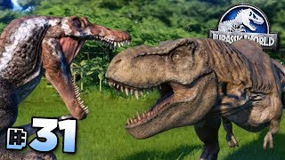 SPINOSAURUS TAKES ON THE T.REX!!! - Jurassic World Evolution FULL PLAYTHROUGH | Ep31 HD