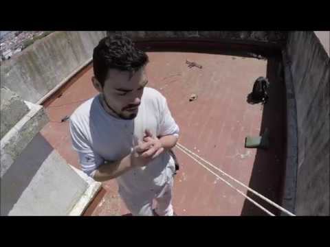 Painting a big building - Rope access