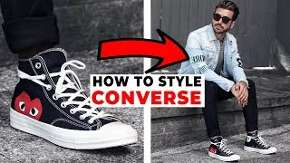 HOW TO STYLE CONVERSE | 4 Easy Outfits For Men 2018 | Alex Costa