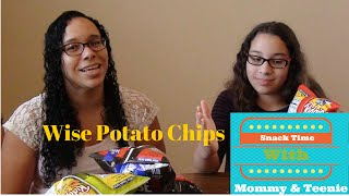 We Try Wise Red Hot, Dill Pickle And Finger-lickin' Ribs Potato Chips