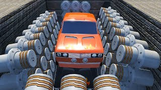 Beamng drive - Hydraulic Press Crushes Cars #8