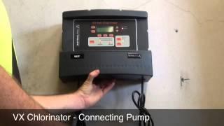 vx salt chlorinator connecting pump