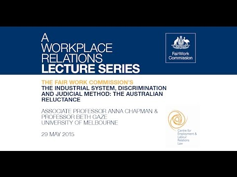 The industrial system, discrimination and judicial method: the Australian reluctance