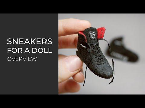 1/6 scale Doll Sneakers | Miniature Shoes | Кроссовки для куклы 1/6 | Миниатюрная обувь