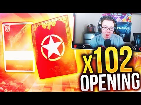 LUCKIEST SUPPLY DROP OPENING EVER! (Call of Duty WW2 BIGGEST SUPPLY DROP OPENING x102 Supply Drops)
