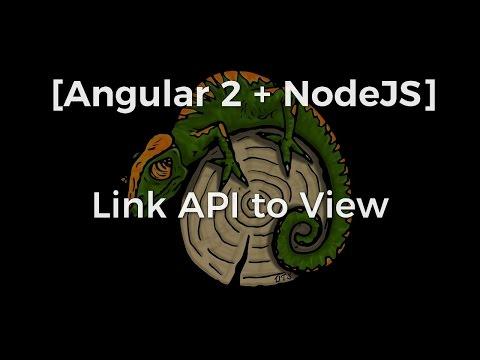 [Angular 2 + nodeJS] Link NodeJS API to Angular Front End