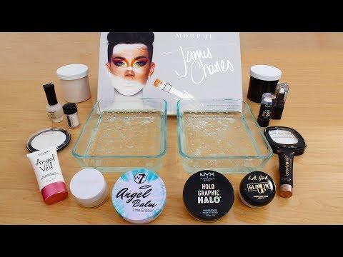 Tati vs James Charles - Mixing Makeup Eyeshadow Into Slime! Satisfying Slime Video