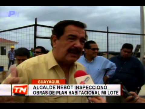 Alcalde Nebot inspeccionó obras de plan habitacional Mi Lote