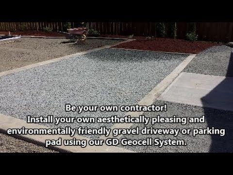 how to install a gravel driveway or gravel parking pad youtube. Black Bedroom Furniture Sets. Home Design Ideas