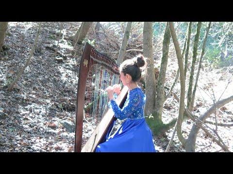 """Ma Navu"" on Celtic Harp With Singing"