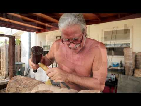 Tiki carving with Nicky Ravine