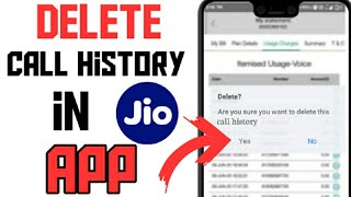 How To Delete Call History In My Jio App / Jio App Mai Call History Ko Delete Kaise Kare #jio #calls screenshot 4