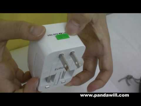 Universal Travel Power AC plug adapter AU/UK/US/EU