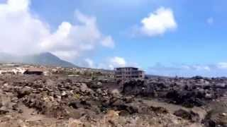 Plymouth Montserrat - Volcanic destruction and drive to jetty