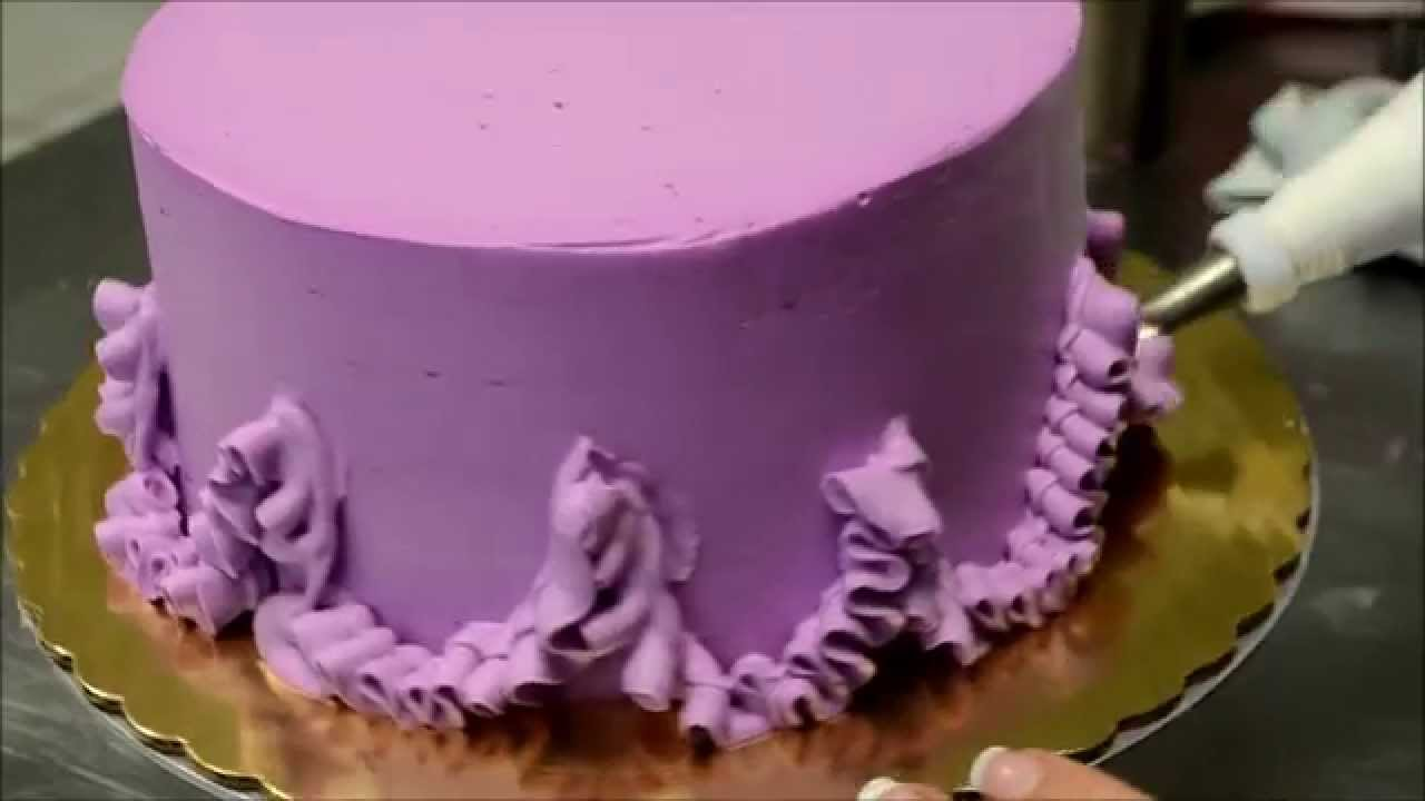 How to make Purple Icing birthday cake YouTube