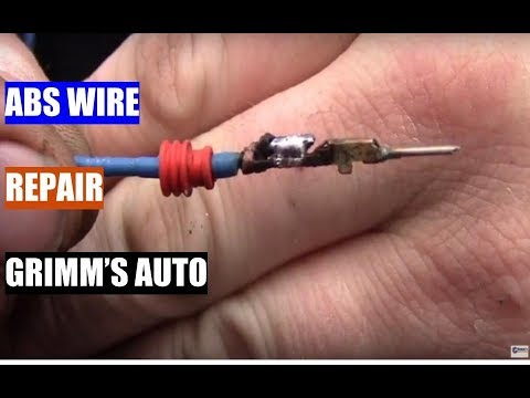 ABS Wheel sd sensor wire repair on