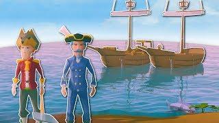SHIP BUILDING CHALLENGE! - Ylands Multiplayer Gameplay - Ship Building & Sailing
