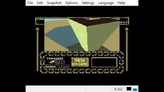 C64 3D Construction Kit Studio Game running on fast emulator