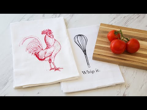 Coin Laundry - Hand Printed Flour Sack Towels