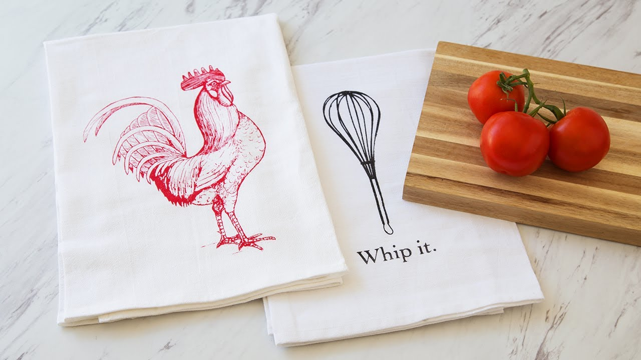 Coin Laundry   Hand Printed Flour Sack Towels