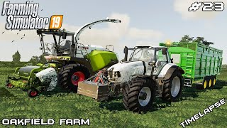 Grass silage harvest | Animals on Oakfield Farm | Farming Simulator 19 | Episode 23