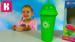 Стакан морозильник Чиллфактор делаем мороженое из клубничного молока Chillfactor Slushy Maker DIY