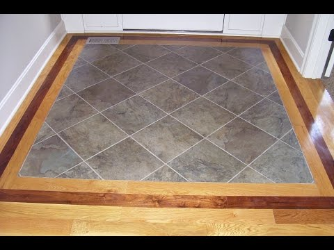 Front Foyer Floor Tiles : Hardwood floor with tile inlay at entryway youtube