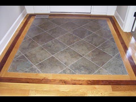 Hardwood Floor with Tile Inlay at Entryway - YouTube
