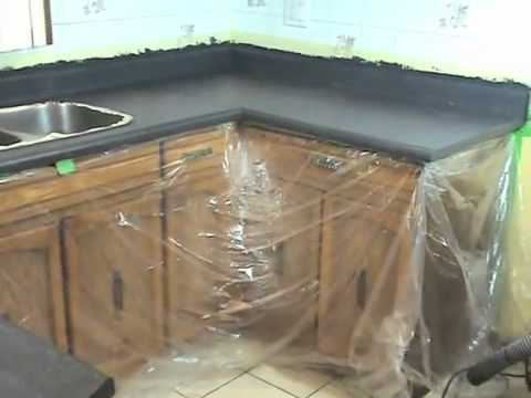 Refinishing Kitchen Countertops Natural Maple Cabinets Beauti Tone Countertop Kit Youtube