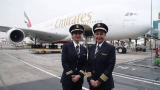 Female pilots fly Emirates A380 for International Women's Day | Emirates Airline thumbnail