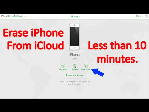 Erase iPhone from iCloud less than 10 minutes (Delete All data and Restore iPhone) (Khmer)