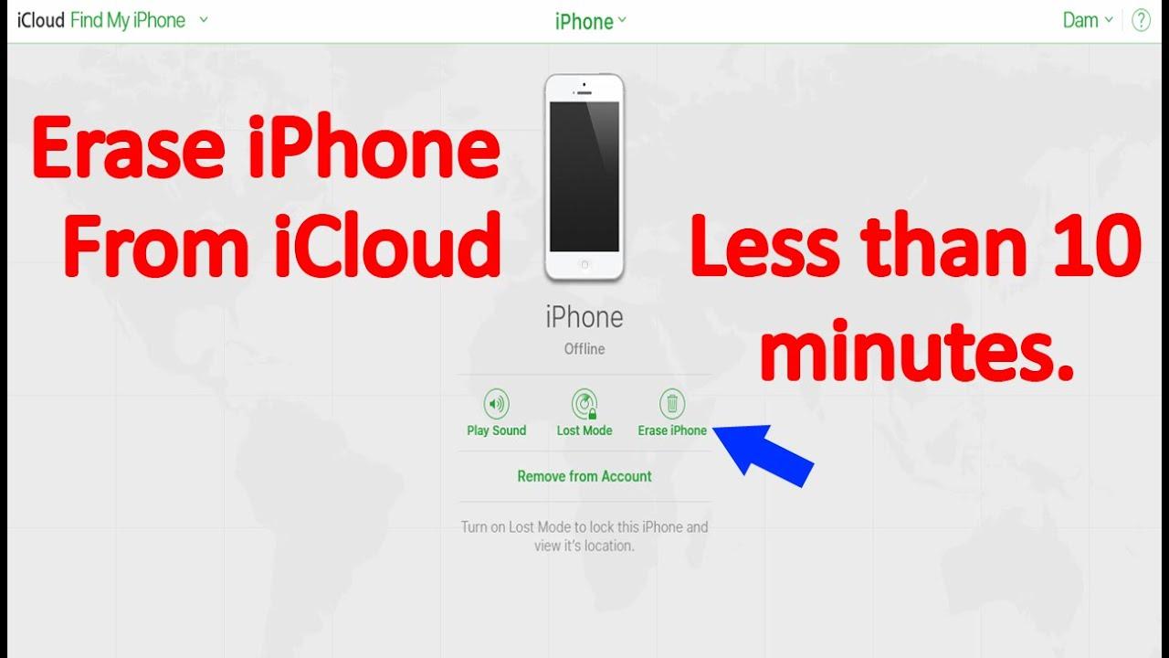iCloud Factory Reset iPhone