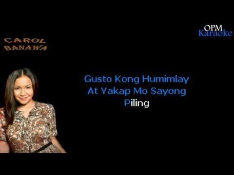 Carol Banawa - Itanong Mo Sa Puso Ko (Karaoke)