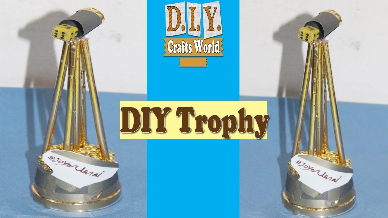 how to make a trophy out of a plastic bottle